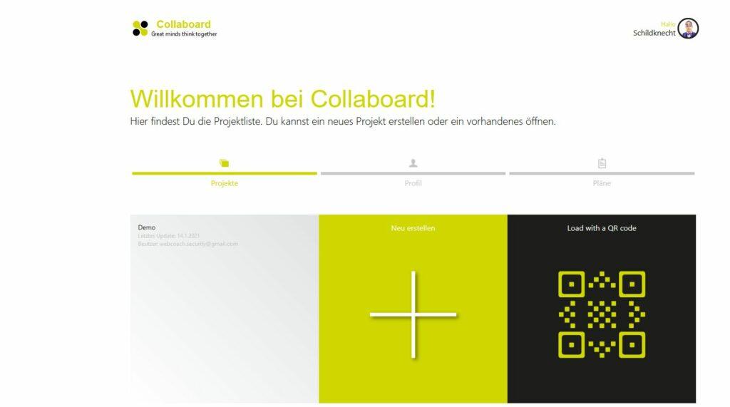 Whiteboard online von Collaboard